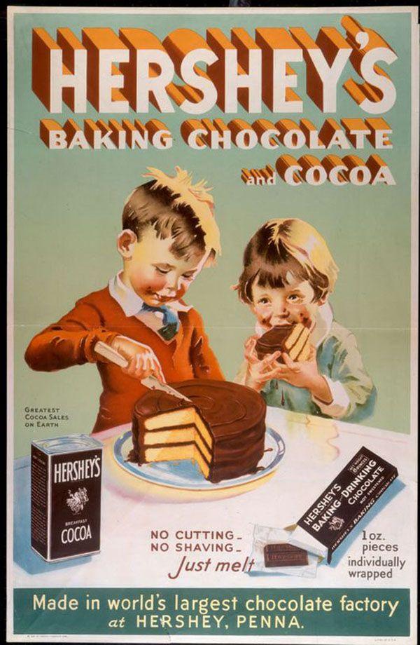Retro Hershey's Chocolate Advertisement
